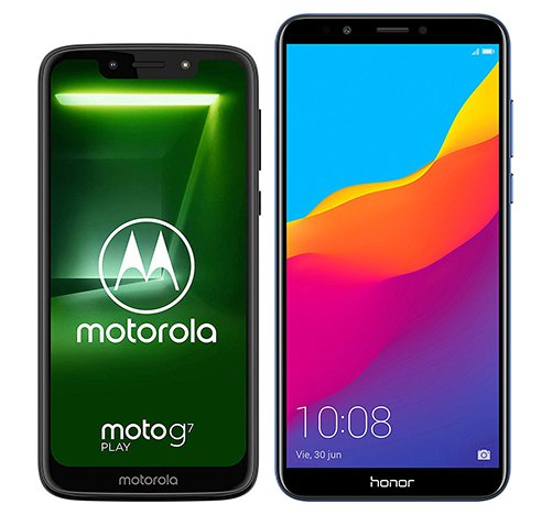 Smartphone Comparison: Motorola moto g7 play vs Honor 7c