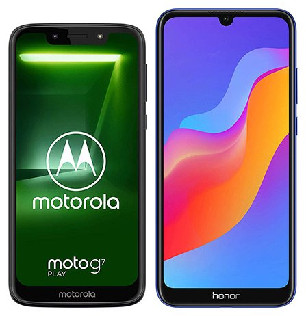 Smartphone Comparison: Motorola moto g7 play vs Honor 8a
