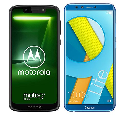 Smartphone Comparison: Motorola moto g7 play vs Honor 9 lite