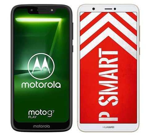 Smartphone Comparison: Motorola moto g7 play vs Huawei p smart