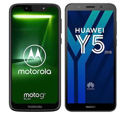 Smartphone Comparison: Motorola moto g7 play vs Huawei y5 2018