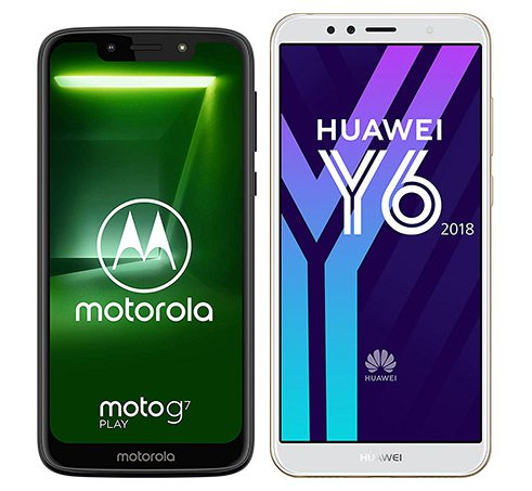 Smartphone Comparison: Motorola moto g7 play vs Huawei y6 2018