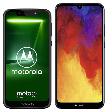 Smartphone Comparison: Motorola moto g7 play vs Huawei y6 2019