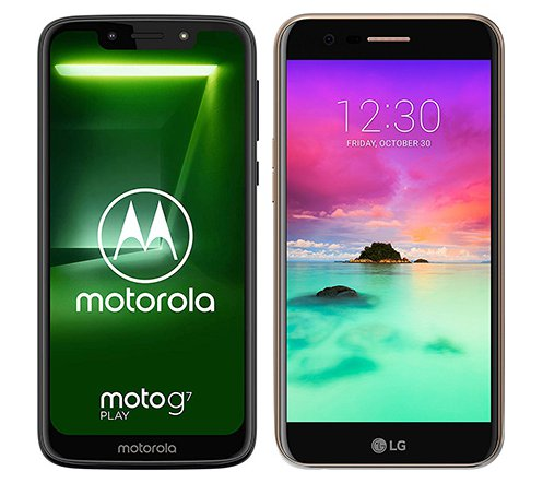 Smartphone Comparison: Motorola moto g7 play vs Lg k10 2017