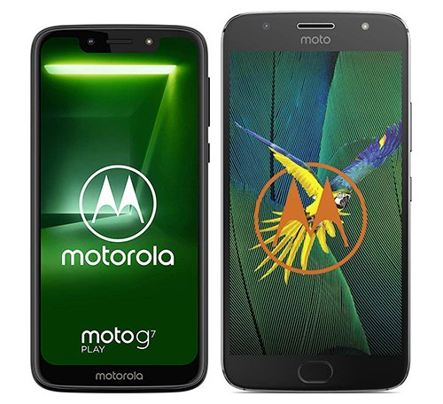 Moto G7 Play vs Moto G5s Plus. Size comparison