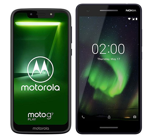 Smartphone Comparison: Motorola moto g7 play vs Nokia 2 1 2018