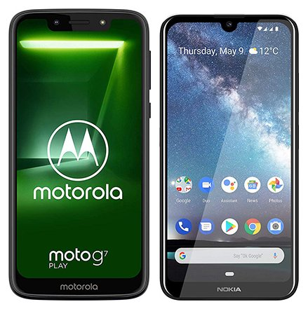 Smartphone Comparison: Motorola moto g7 play vs Nokia 2 2 2019