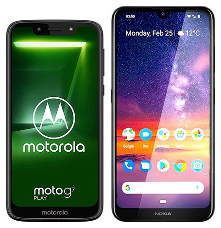 Smartphone Comparison: Motorola moto g7 play vs Nokia 3 2