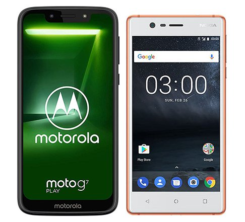 Smartphone Comparison: Motorola moto g7 play vs Nokia 3