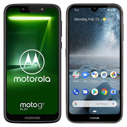 Smartphone Comparison: Motorola moto g7 play vs Nokia 4 2