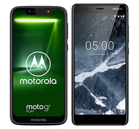 Smartphone Comparison: Motorola moto g7 play vs Nokia 5 1 2018