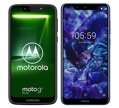 Smartphone Comparison: Motorola moto g7 play vs Nokia 5 1 plus