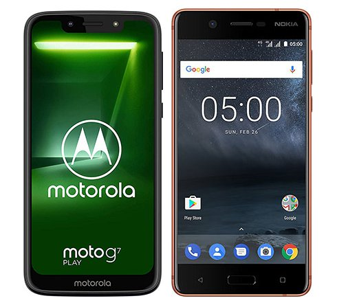 Smartphone Comparison: Motorola moto g7 play vs Nokia 5