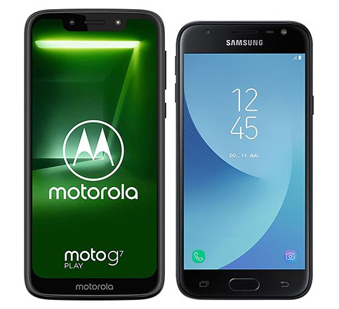 Smartphone Comparison: Motorola moto g7 play vs Samsung galaxy j3 duos 2017