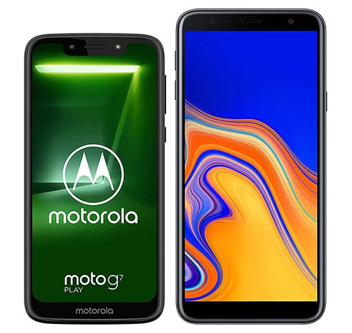 Smartphone Comparison: Motorola moto g7 play vs Samsung galaxy j4 plus