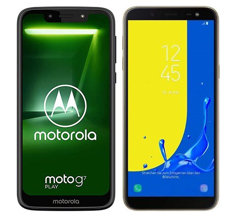 Smartphone Comparison: Motorola moto g7 play vs Samsung galaxy j6