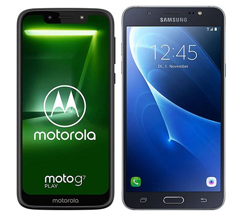 Smartphone Comparison: Motorola moto g7 play vs Samsung galaxy j7 2016