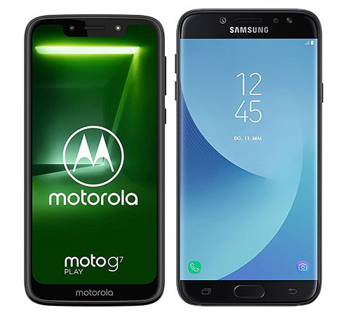 Smartphone Comparison: Motorola moto g7 play vs Samsung galaxy j7 2017