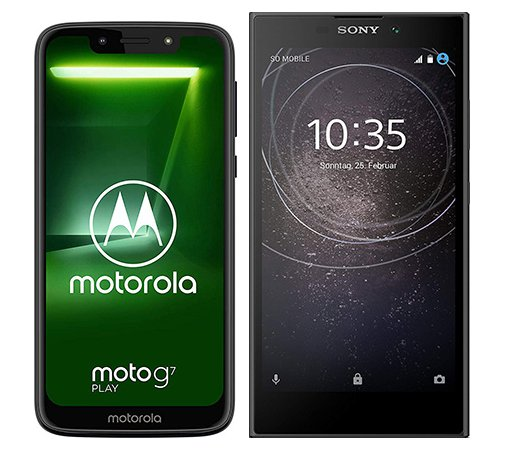 Smartphone Comparison: Motorola moto g7 play vs Sony xperia l2