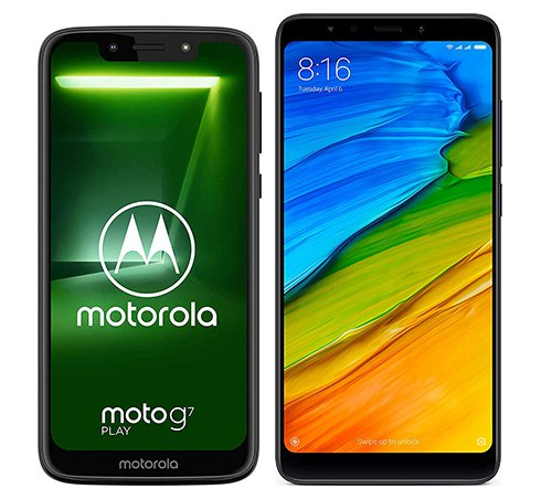 Smartphone Comparison: Motorola moto g7 play vs Xiaomi redmi 5