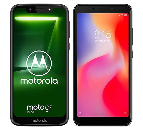 Smartphone Comparison: Motorola moto g7 play vs Xiaomi redmi 6