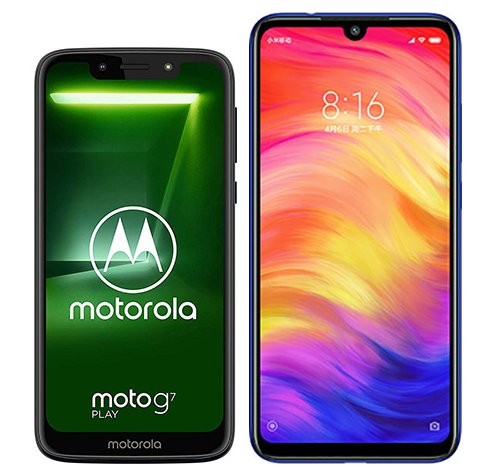 Smartphone Comparison: Motorola moto g7 play vs Xiaomi redmi note 7