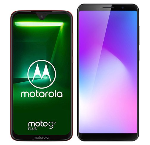Smartphone Comparison: Motorola moto g7 plus vs Cubot power