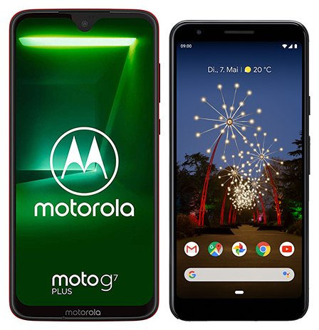 Smartphone Comparison: Motorola moto g7 plus vs Google pixel 3a