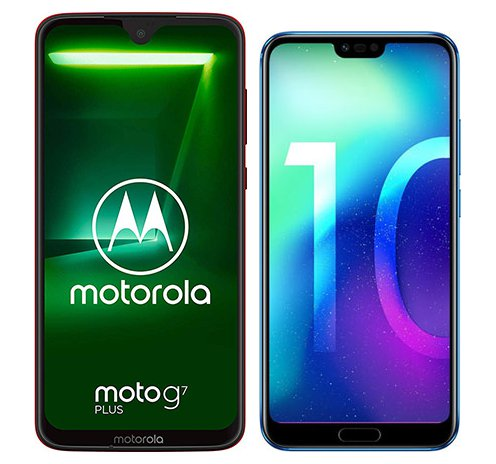 Smartphone Comparison: Motorola moto g7 plus vs Honor 10