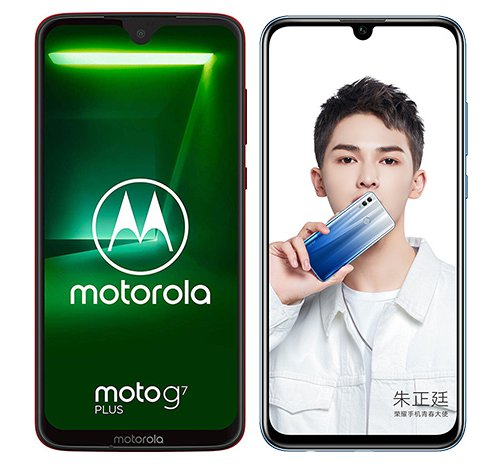 Smartphone Comparison: Motorola moto g7 plus vs Honor 10 lite
