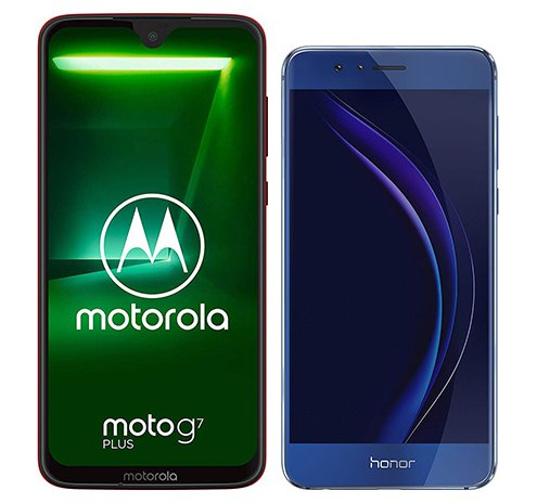 Smartphone Comparison: Motorola moto g7 plus vs Honor 8