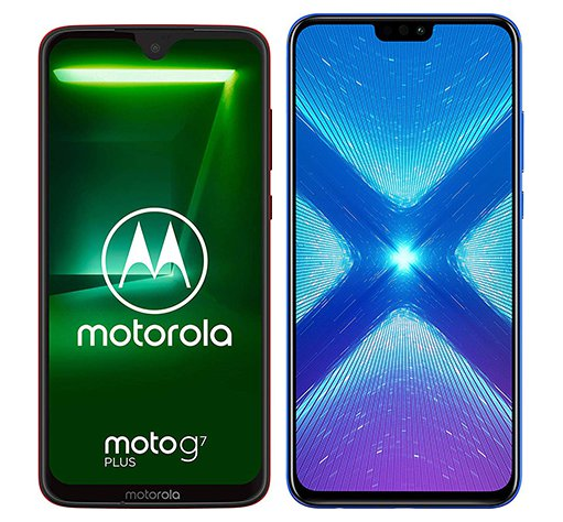 Smartphone Comparison: Motorola moto g7 plus vs Honor 8x
