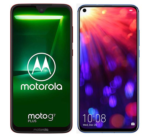 Smartphone Comparison: Motorola moto g7 plus vs Honor view 20