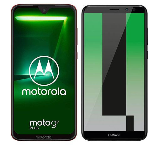 Smartphone Comparison: Motorola moto g7 plus vs Huawei mate 10 lite