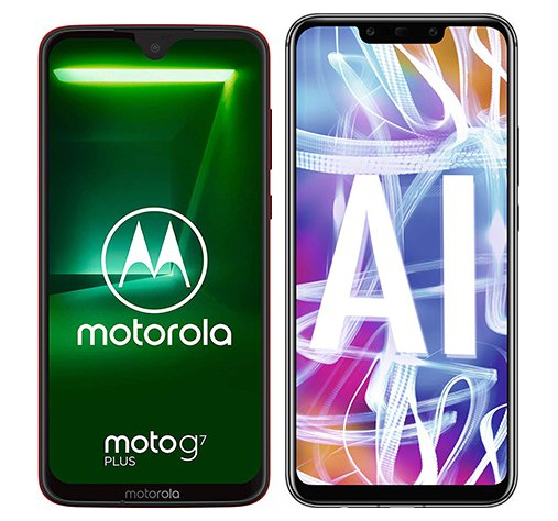 Smartphone Comparison: Motorola moto g7 plus vs Huawei mate 20 lite