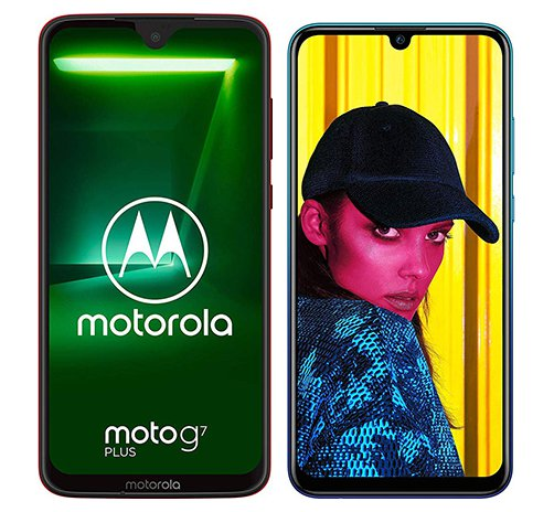 Smartphone Comparison: Motorola moto g7 plus vs Huawei p smart 2019
