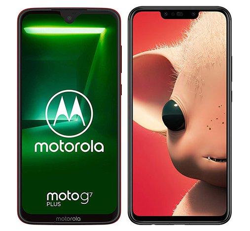 Smartphone Comparison: Motorola moto g7 plus vs Huawei p smart plus