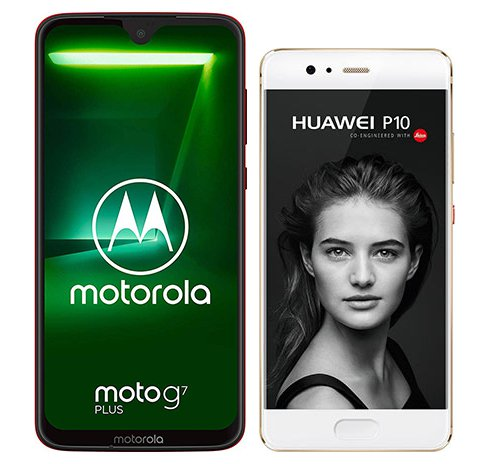 Smartphone Comparison: Motorola moto g7 plus vs Huawei p10