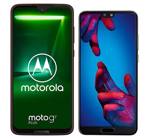 Smartphone Comparison: Motorola moto g7 plus vs Huawei p20