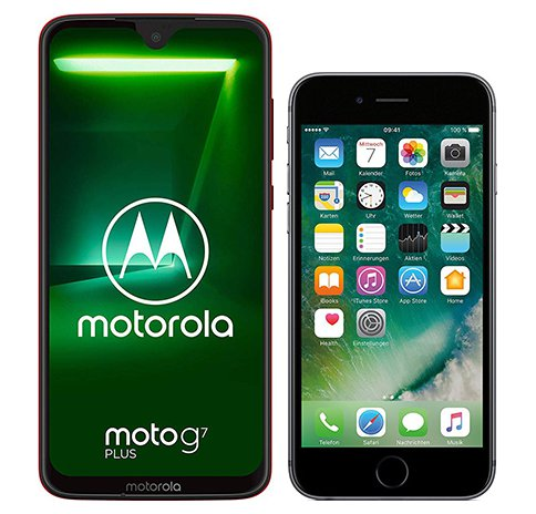 Smartphone Comparison: Motorola moto g7 plus vs Iphone 6s