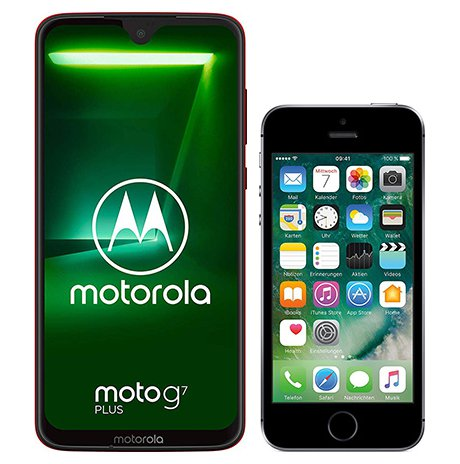Smartphone Comparison: Motorola moto g7 plus vs Iphone se