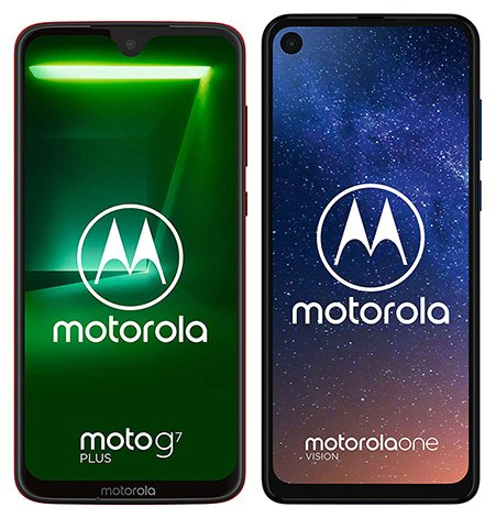 Smartphone Comparison: Motorola moto g7 plus vs Motorola one vision