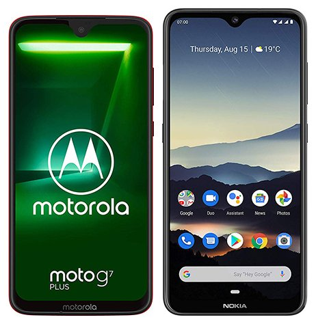 Smartphone Comparison: Motorola moto g7 plus vs Nokia 7 2