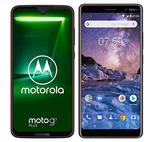 Smartphone Comparison: Motorola moto g7 plus vs Nokia 7 plus