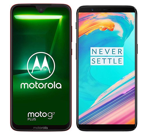 Smartphone Comparison: Motorola moto g7 plus vs One plus 5t