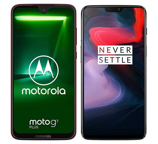Smartphone Comparison: Motorola moto g7 plus vs One plus 6