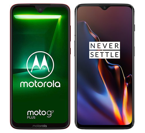 Smartphone Comparison: Motorola moto g7 plus vs One plus 6t