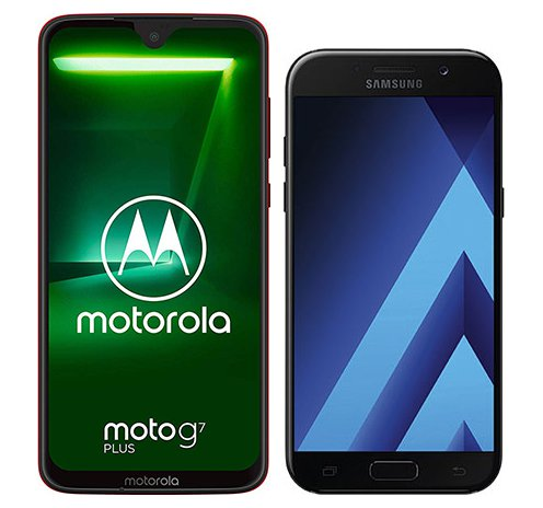 Smartphone Comparison: Motorola moto g7 plus vs Samsung galaxy a5 2017