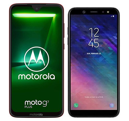 Smartphone Comparison: Motorola moto g7 plus vs Samsung galaxy a6