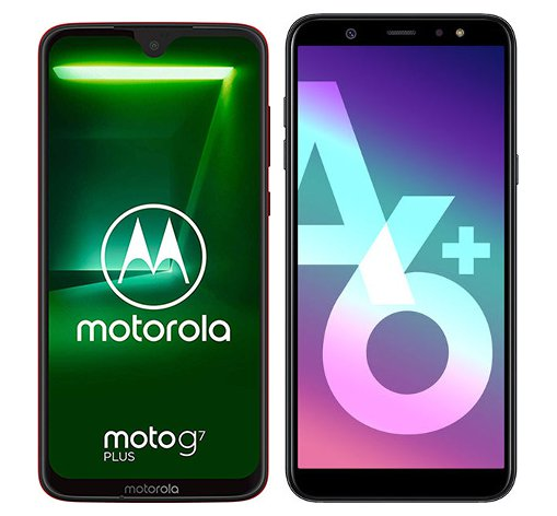 Smartphone Comparison: Motorola moto g7 plus vs Samsung galaxy a6 plus